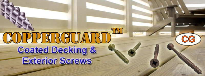 Decking Screws Coated Copperguard