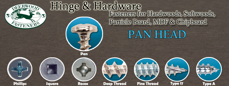 Hinge and Hardware Screws Pan Head